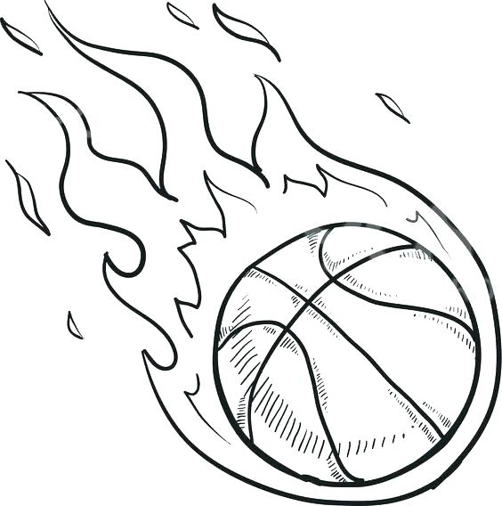 564x568 Basketball Coloring Page Basketball Hoop Coloring Page Basketball
