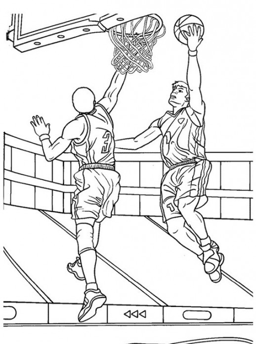 518x695 Basketball Game Coloring Pages For Adults Color Me Wonderful