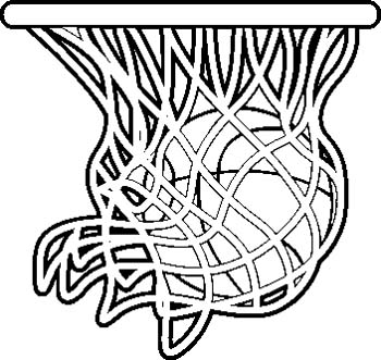 350x331 Basketball Hoop Coloring Page Color Bros