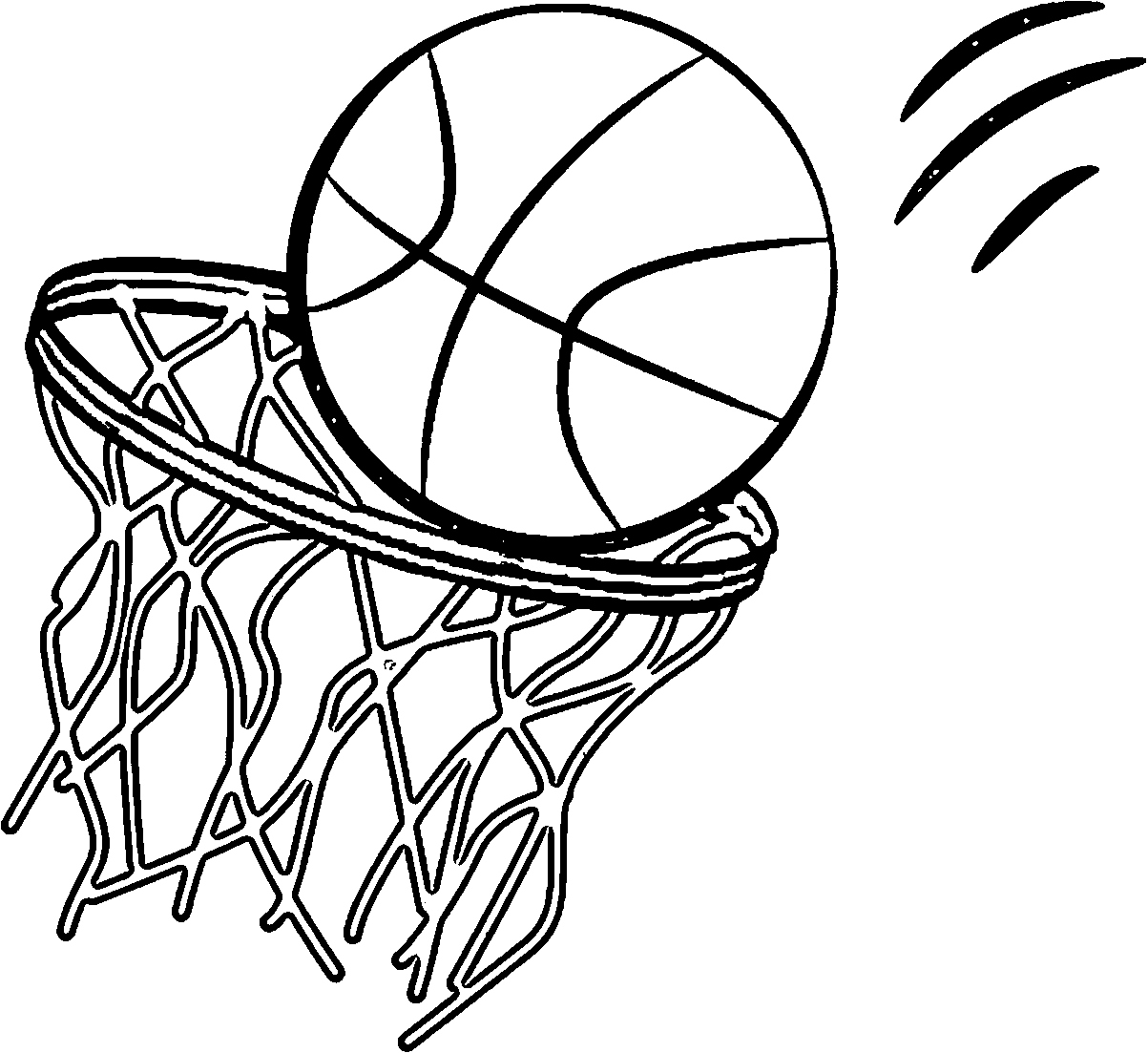 Basketball Making The Hoop Coloring Page