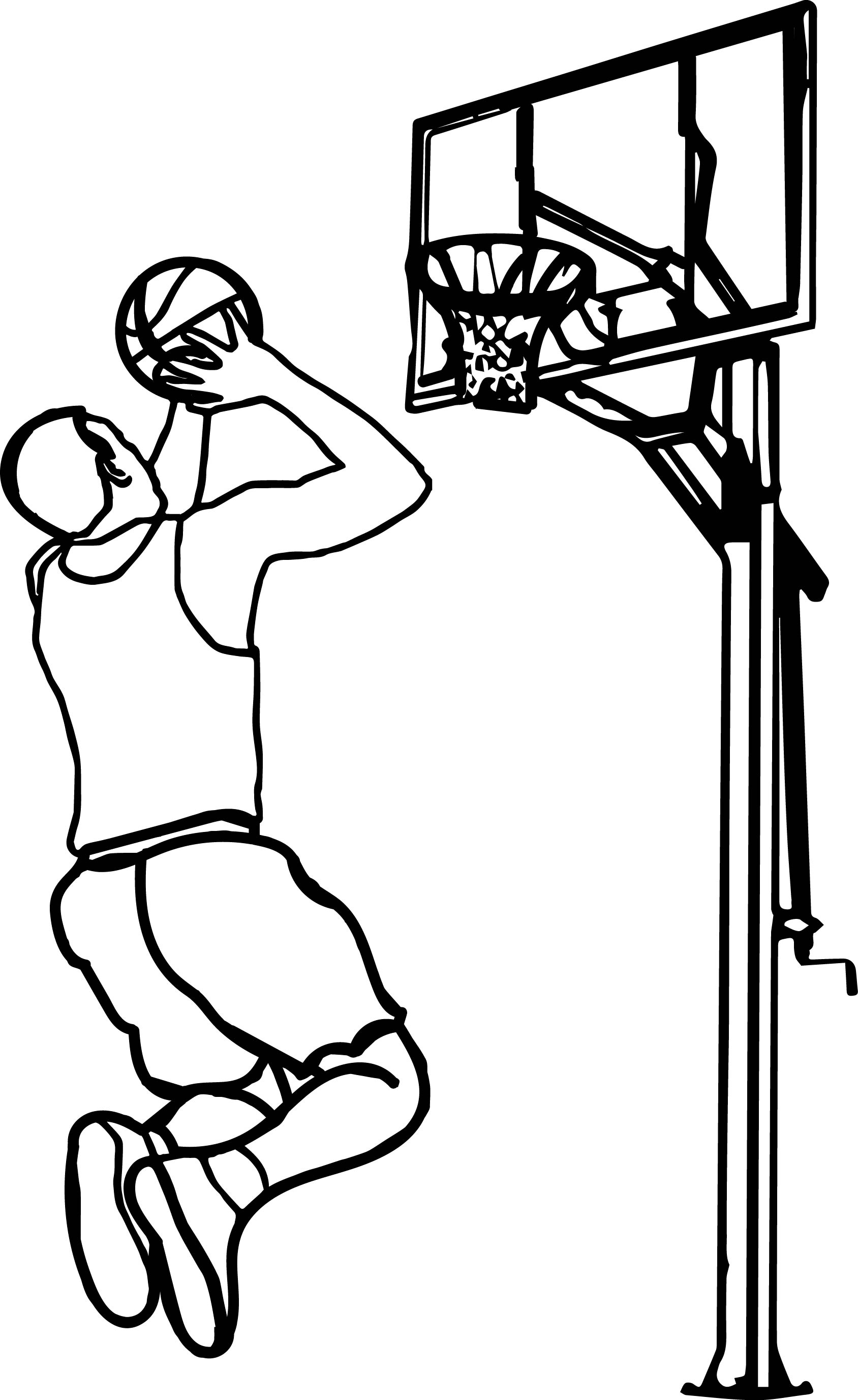 1688x2753 Enormous Basketball Hoop Coloring Page With Ball