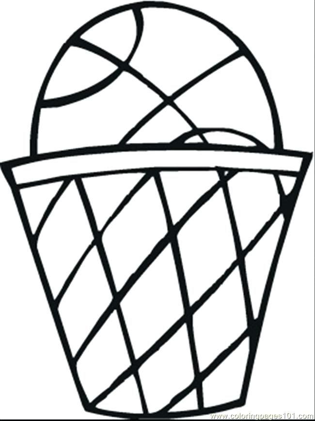 650x869 Nba Basketball Coloring Pages Basketball Hoop With The Ball