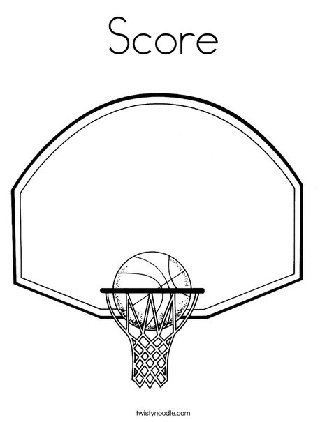 468x605 Score Coloring Page