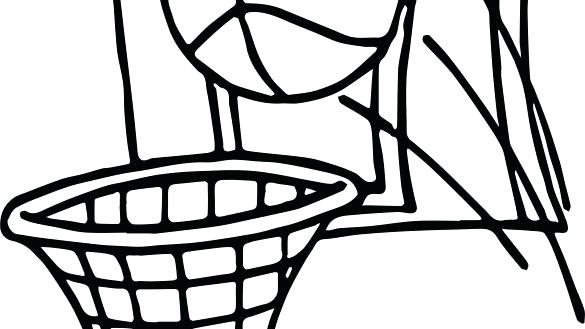 585x329 Basketball Hoop Coloring Page
