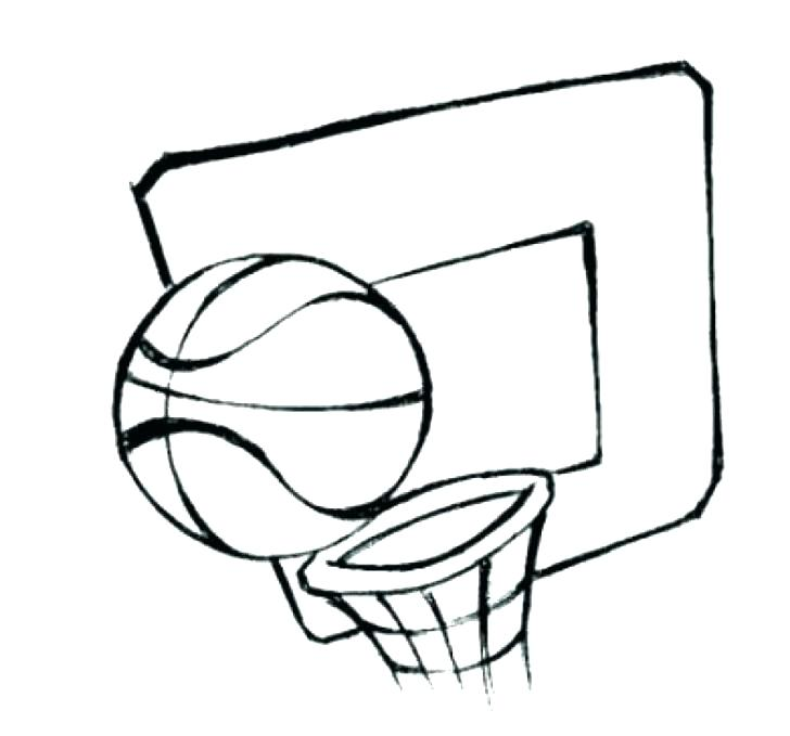 728x679 Basketball Coloring Pages Cartoon Of Coloring Page Free Nba