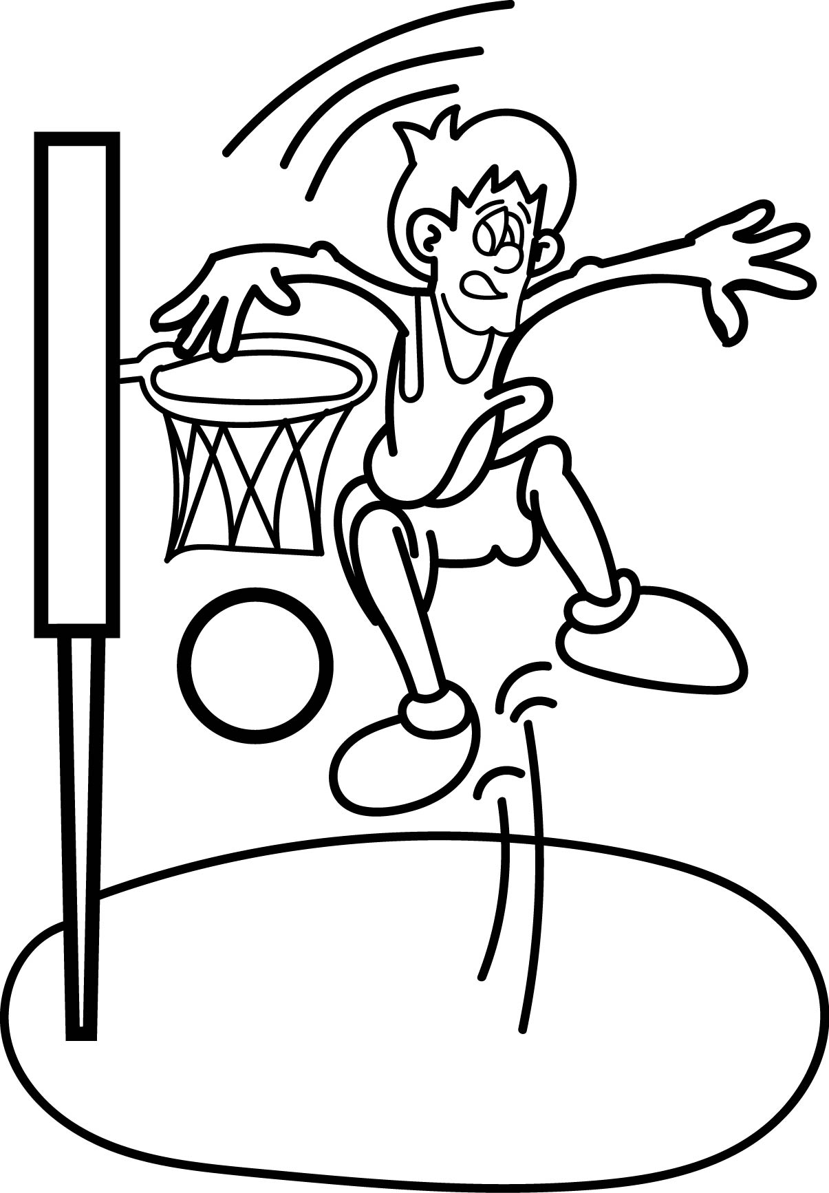 1205x1734 Basketball Player Coloring Pages Wecoloringpage