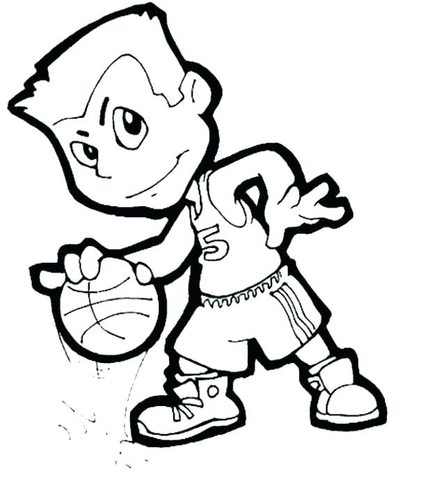 618x689 Basketball Players Coloring Pages Players Coloring Pages
