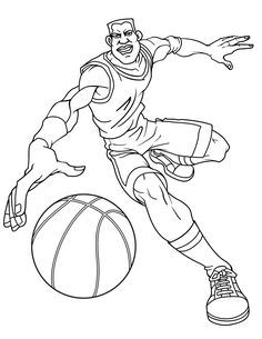 236x305 Basketball Coloring Pages Free Mens Basketball Player Coloring