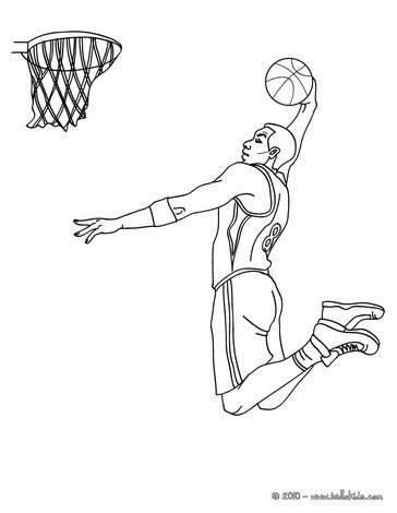 364x470 Basketball Player Coloring Page Basketball Coloring Pages Coloring