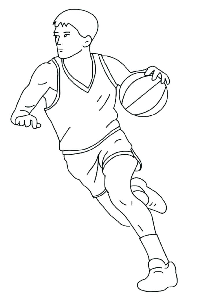 767x1024 Drawings Of Basketball Players As Well As Players Coloring Pages
