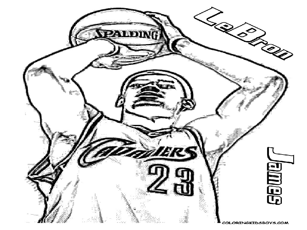 1024x768 Free Printable Coloring Pages Of Basketball Players Copy Lebron
