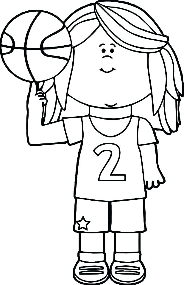 618x956 Basketball Coloring Pages Printable