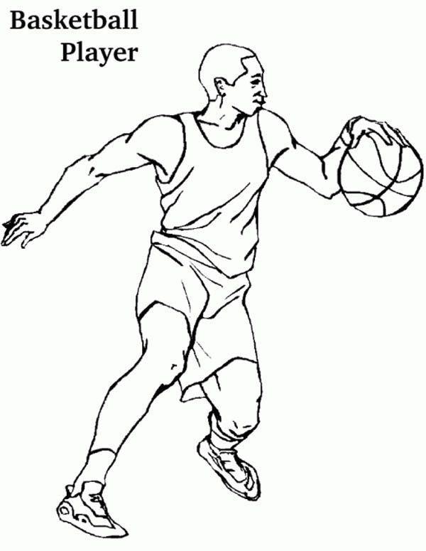 600x775 Basketball Player Coloring Pages Coloring Pages