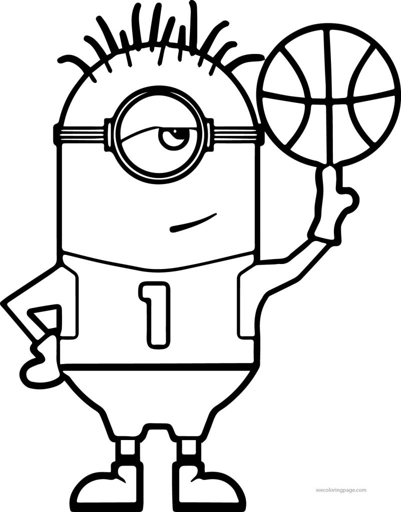 801x1024 Basketball Coloring Pages