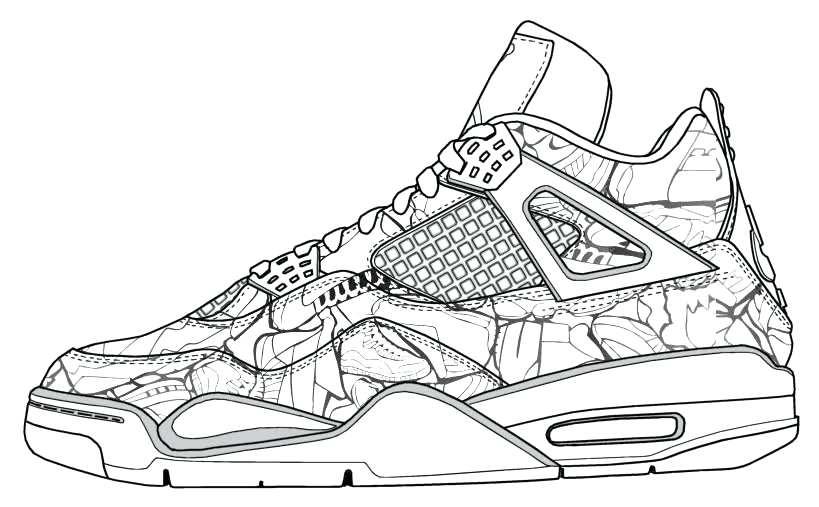 819x507 Jordan Shoe Coloring Pages Shoes Coloring Page Jordan Shoe