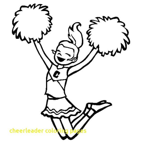 600x612 Cheerleader Coloring Pages With Cheerleader Cheerleading For Her