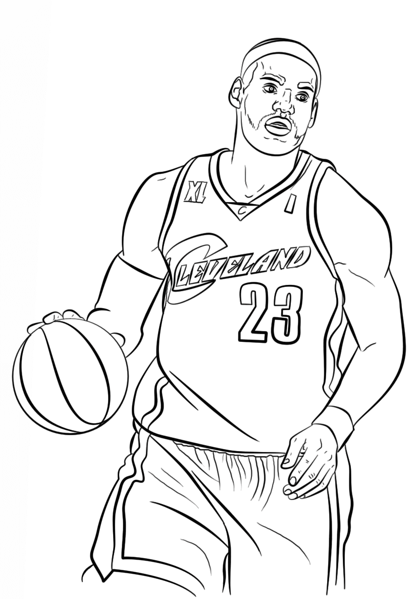 824x1186 Free Printable Nba Coloring Pages