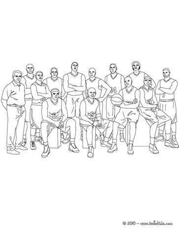 364x470 Basketball Team And Coach Coloring Pages