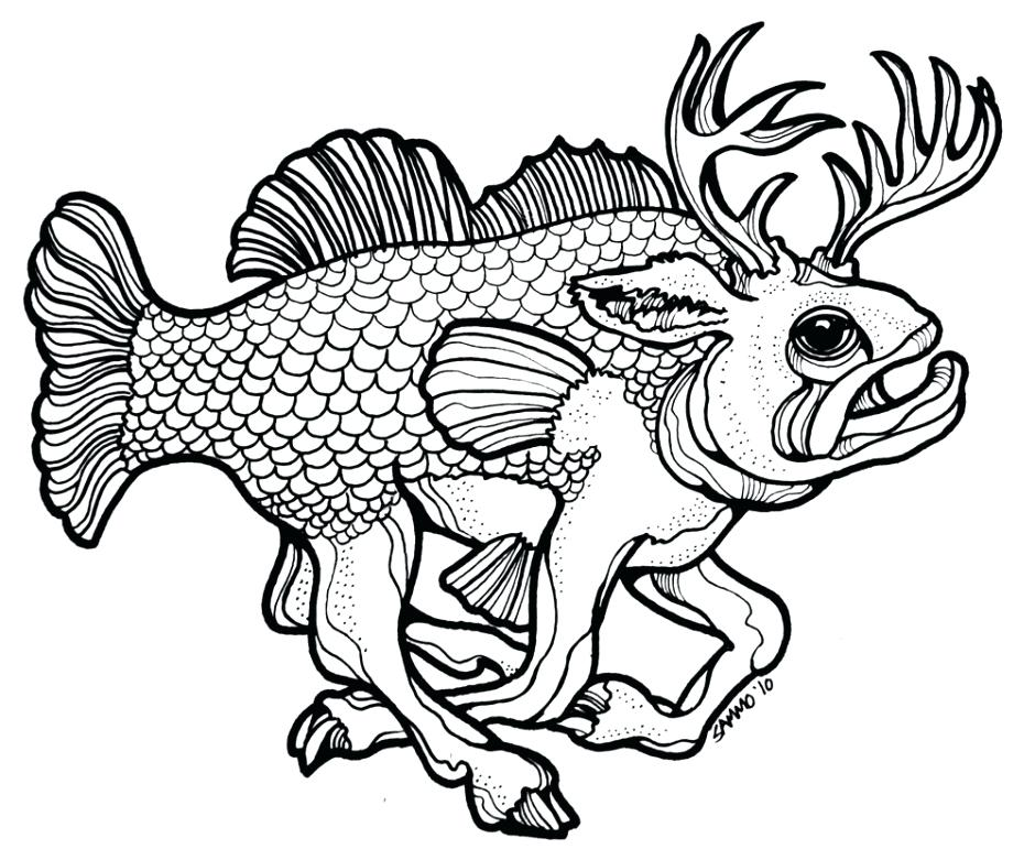 940x781 Bass Coloring Pages Free Bass Coloring Pages