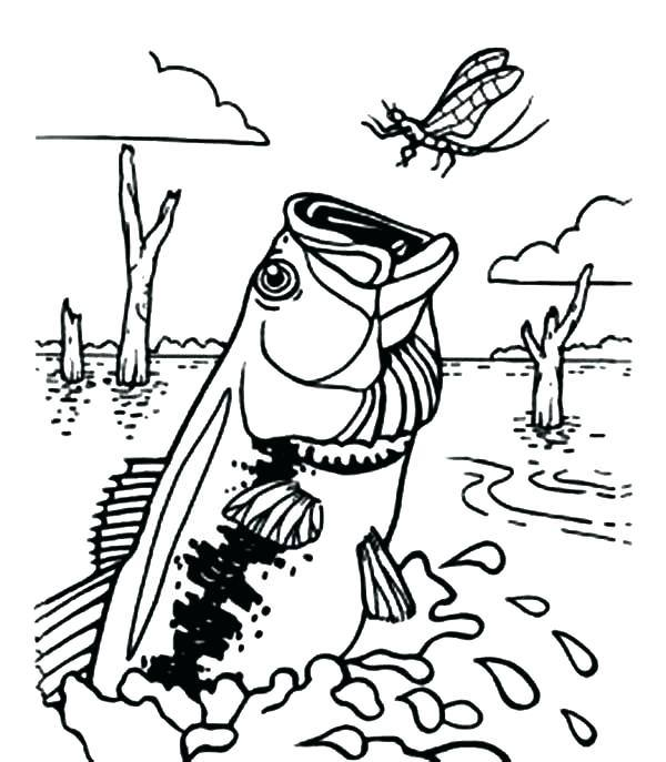 600x687 Bass Boat Coloring Pages
