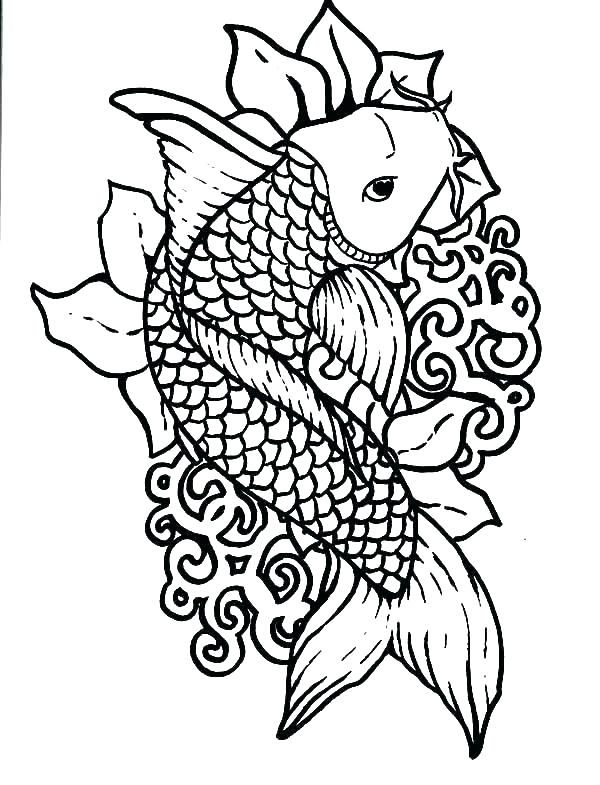 600x785 Fishing Coloring Page Bass Fish Chasing Little Fish Coloring Pages