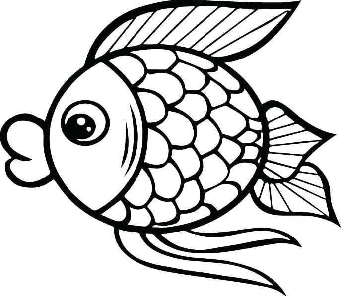 687x597 Bass Coloring Pages