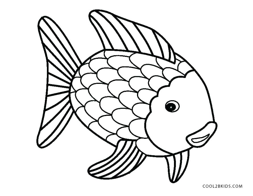 890x689 Charming Coloring Fish Pages Fish Color Pages Rainbow Fish