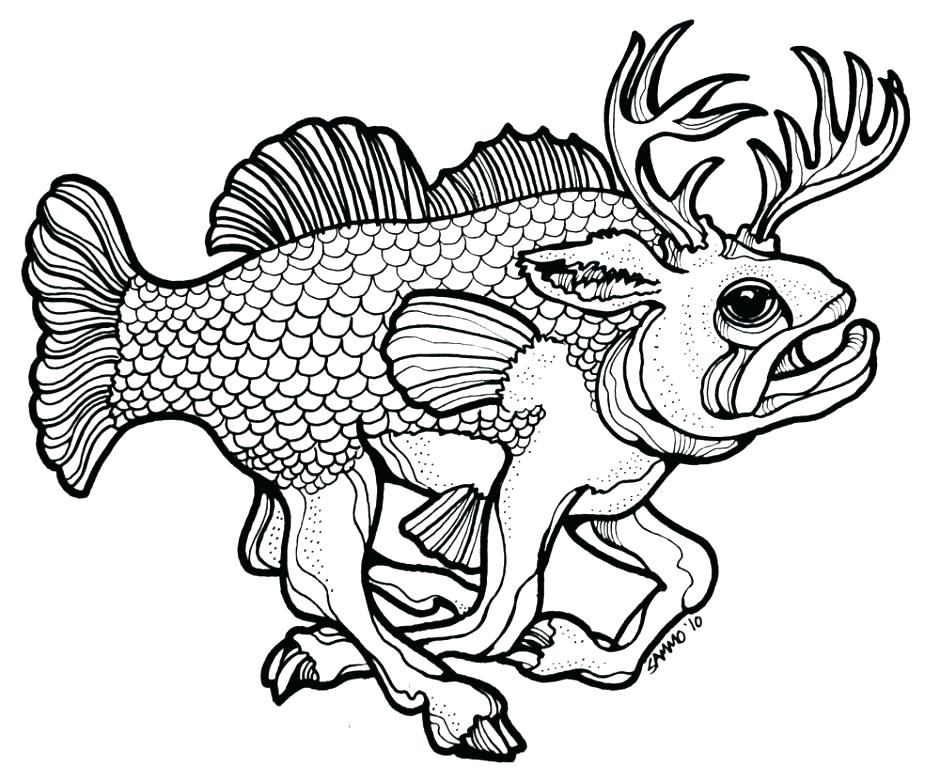 940x781 Fish Coloring Pages Printable Fish Template To Color Fish Coloring