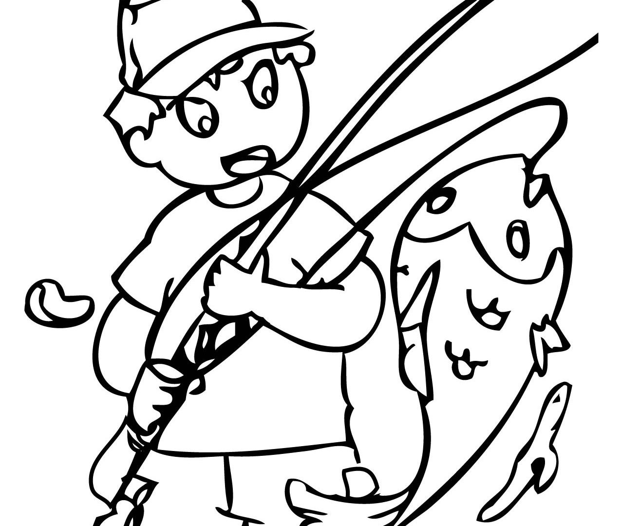 1275x1080 Fishing Coloring Pages Free Ice Sheets Boat Bass Outstanding