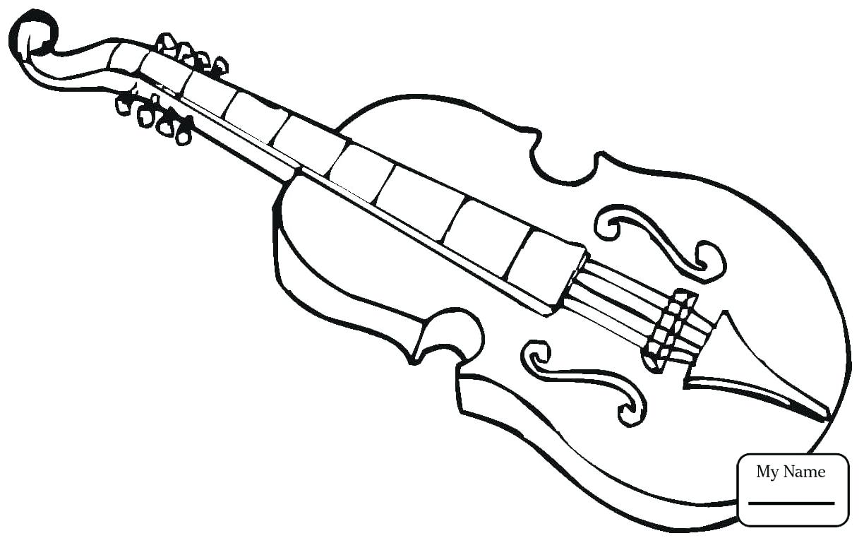 1224x762 Bass Guitar Colouring Pages Music Musical Instruments Coloring