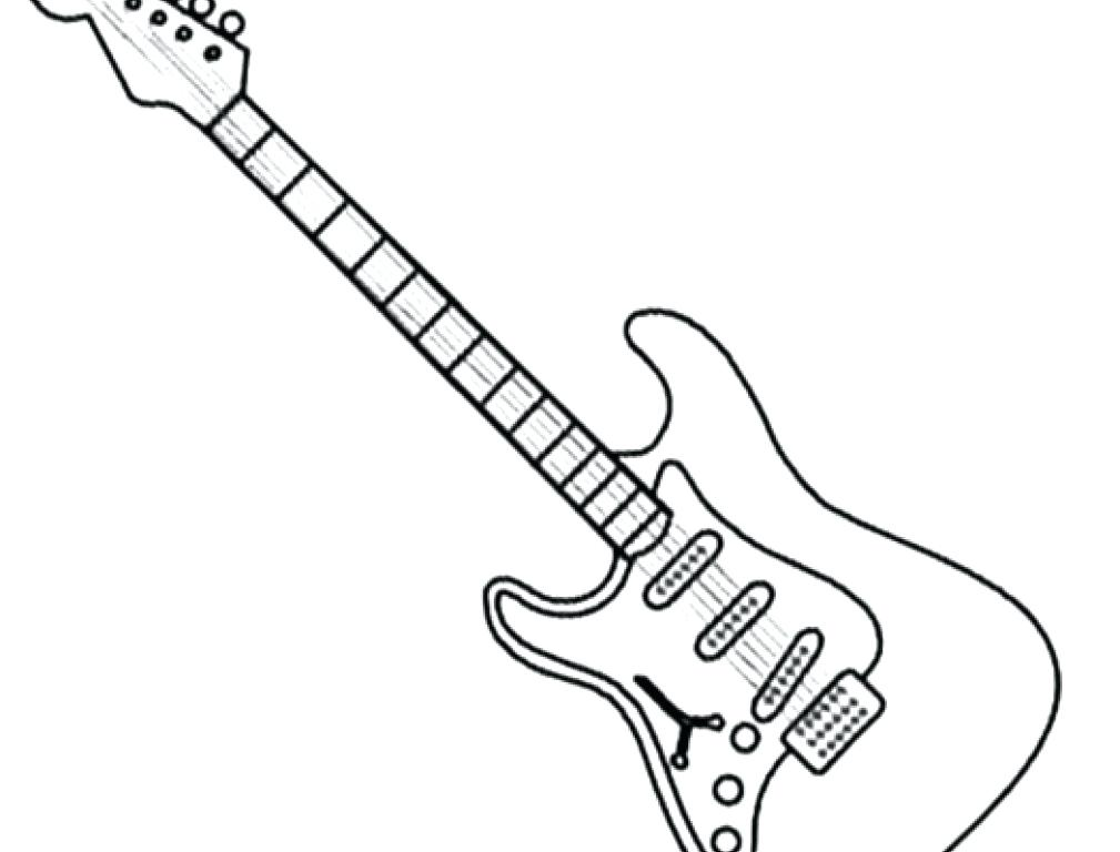 1009x768 Guitar Coloring Pages Bass Guitar Colouring Pages