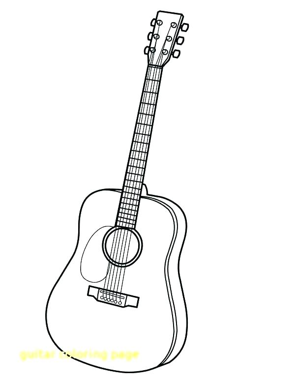 600x776 Guitar Coloring Pictures