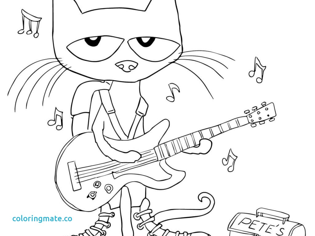 1024x768 Inspiring Pete The Cat Coloring Page Pages