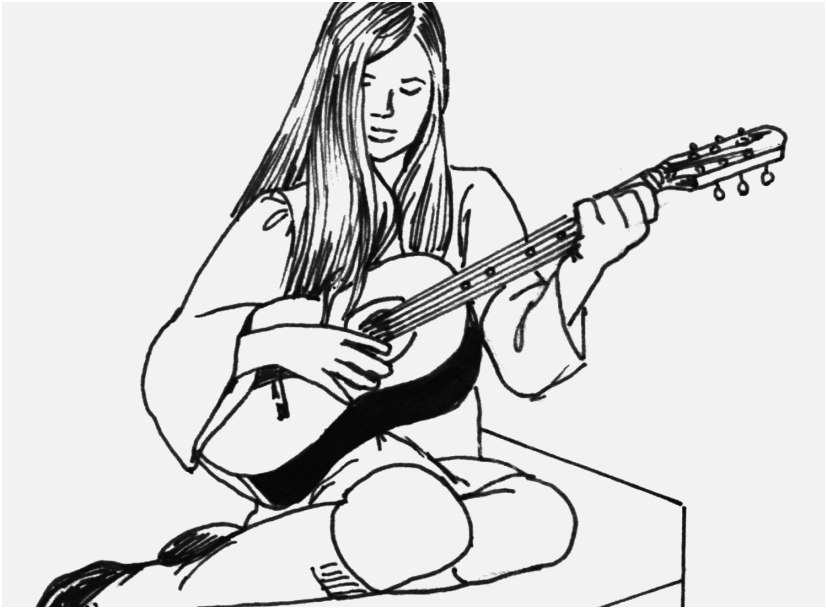 827x609 Pin Up Coloring Pages Pics Bass Guitar Coloring Pages