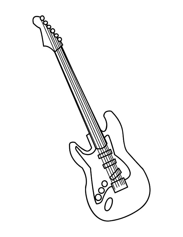 600x777 Bass Guitar Coloring Pages Color Bros