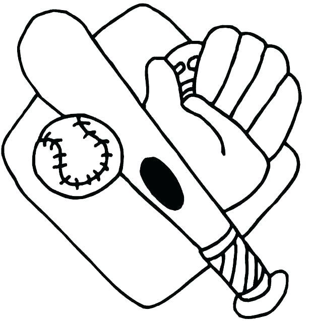 613x637 Baseball Glove Coloring Page Baseball Mitt Coloring Page Baseball