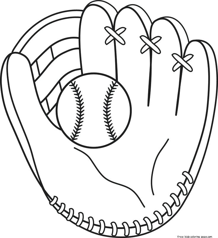 736x802 Baseball Glove Coloring Page Baseball Mitt Coloring Page To Use