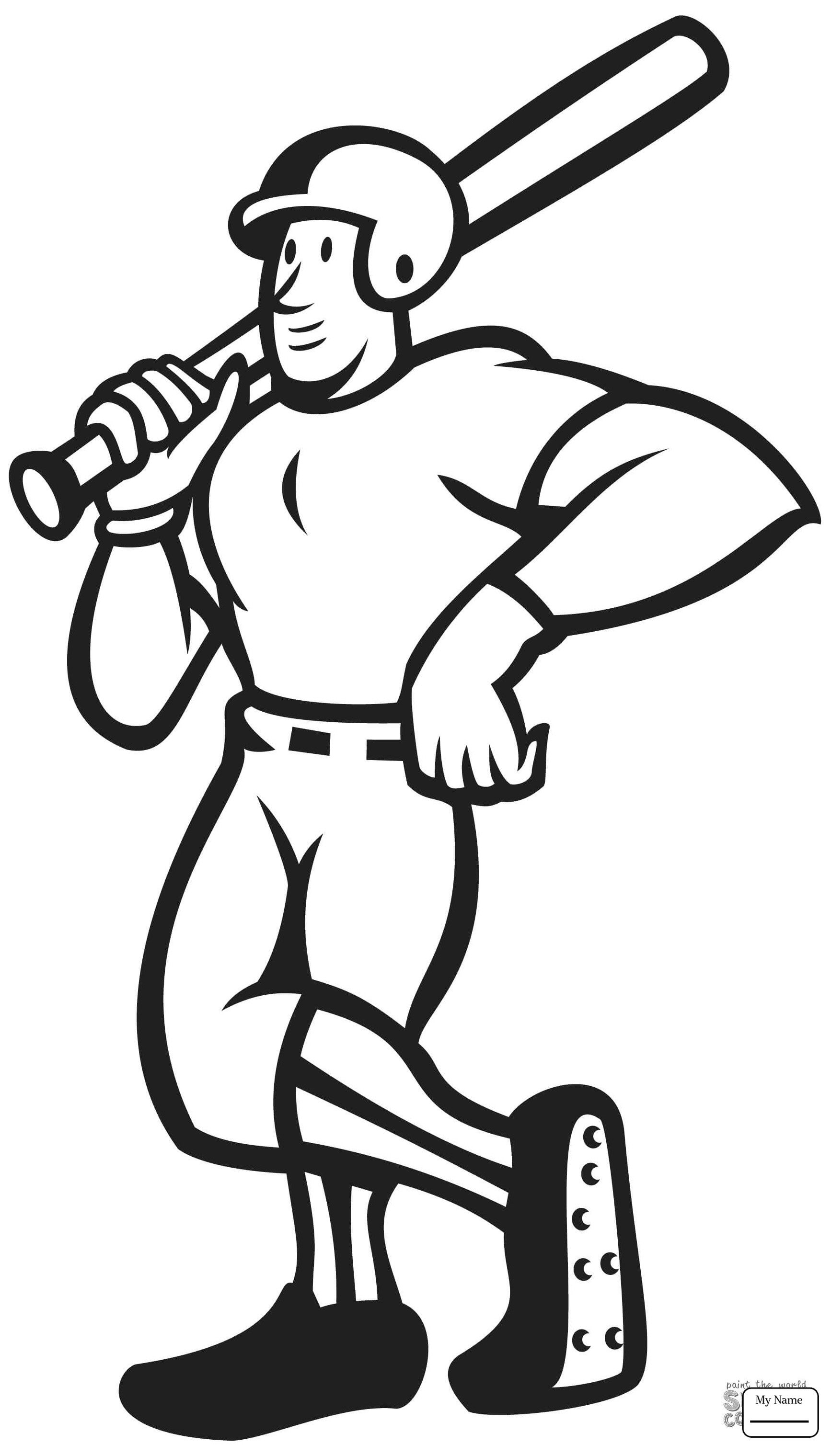 1734x3040 Baseball Sport Coloring Page For Kids Beautiful Baseball Baseball