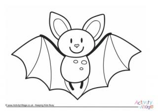 320x226 Bat Colouring Pages