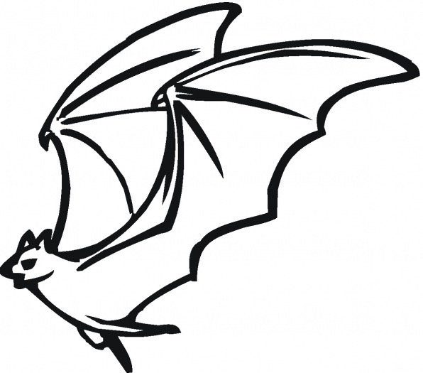596x525 Flying Bat Coloring Page Coloring Book
