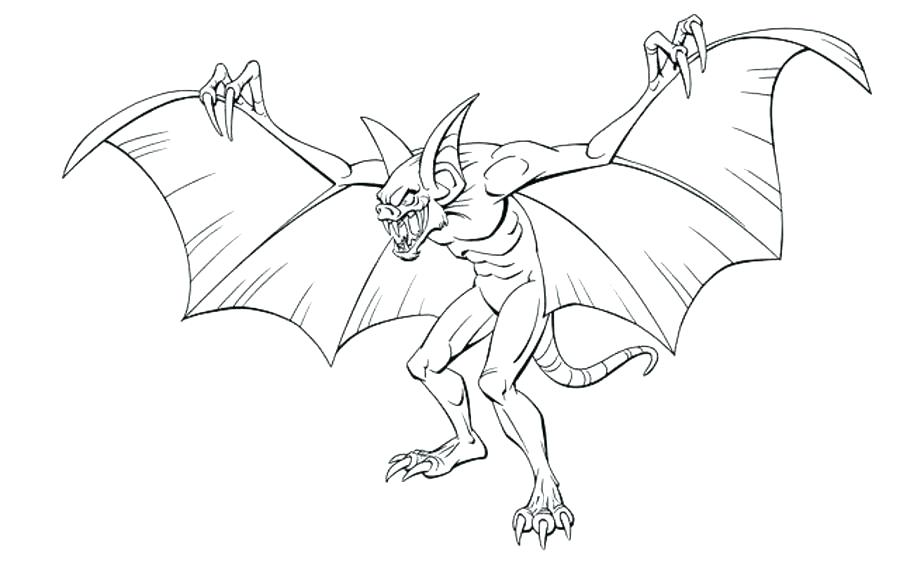 900x586 Free Printable Halloween Bat Coloring Pages