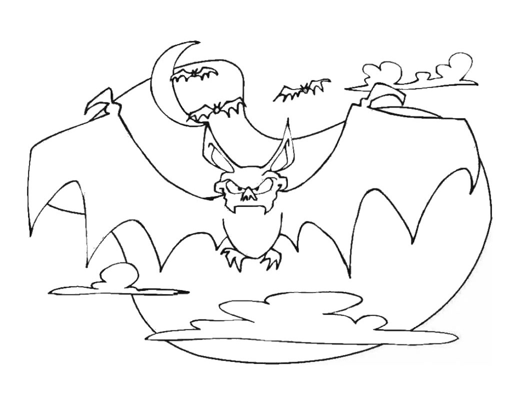 1060x820 Free Printable Bat Coloring Pages For Kids
