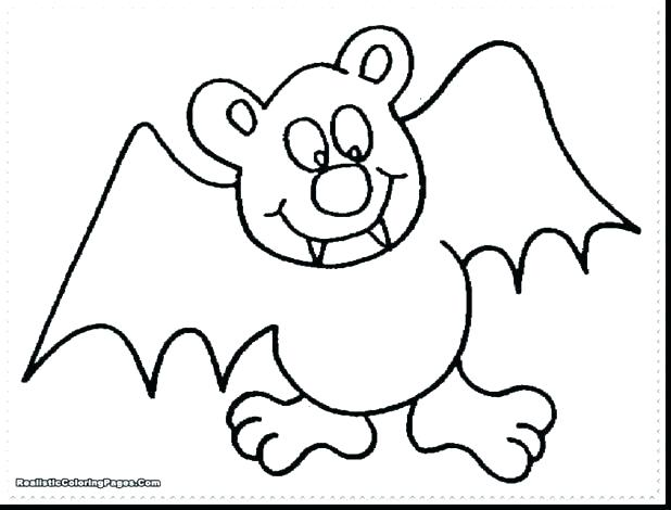618x470 Bat Coloring Pages Free