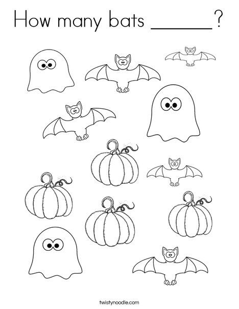 Bat Coloring Pages Preschool