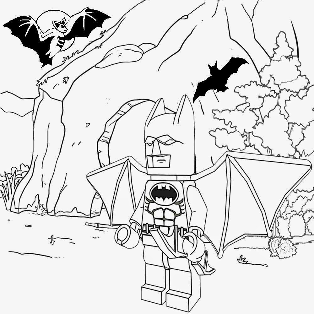 1000x1000 Batman Cave Coloring Pages Preschool In Beatiful Page Image