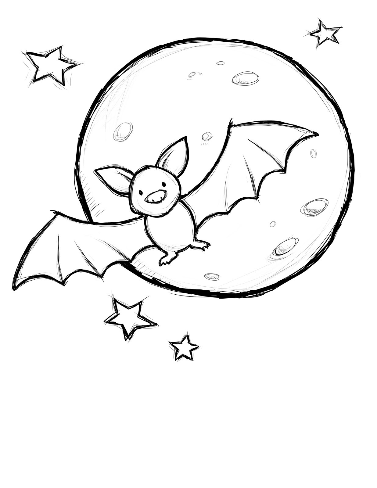 1236x1600 Free Printable Halloween Coloring Pages Bats