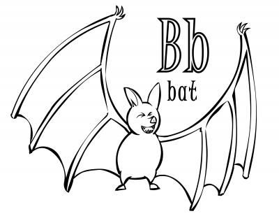 400x309 Halloween Time Abc Coloring Page For The Letter B