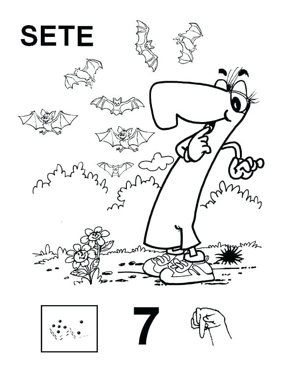 600x768 Number Coloring Page Bats Coloring Page Best Number Coloring