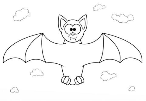 480x333 Bat Coloring Pages Preschool Bats Free