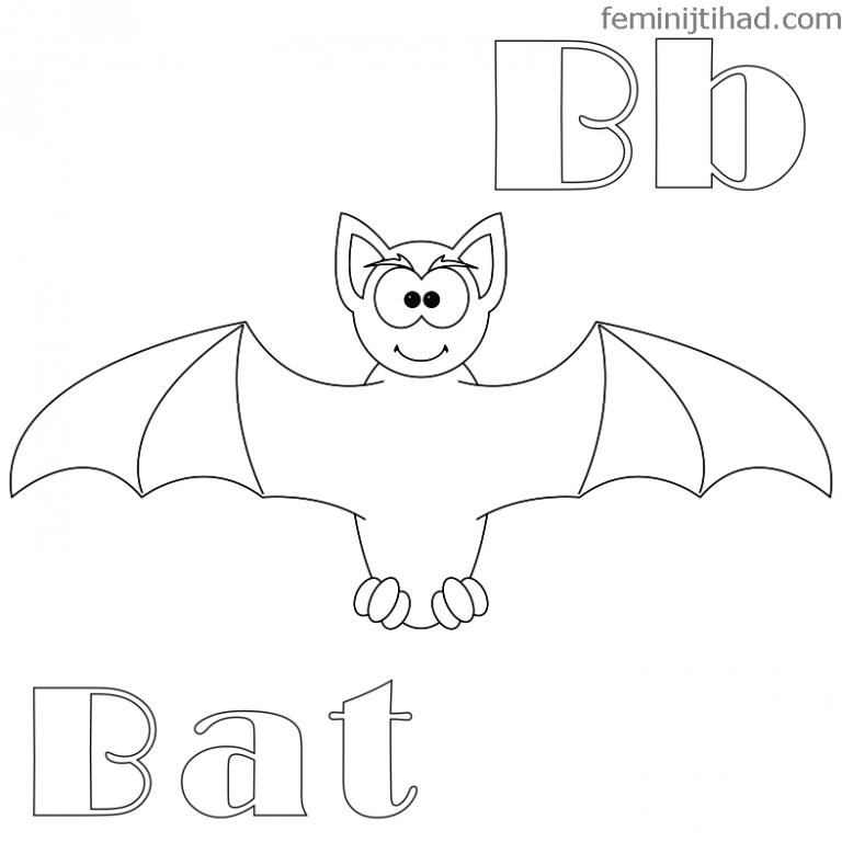 768x768 Bat Coloring Pages Preschool New